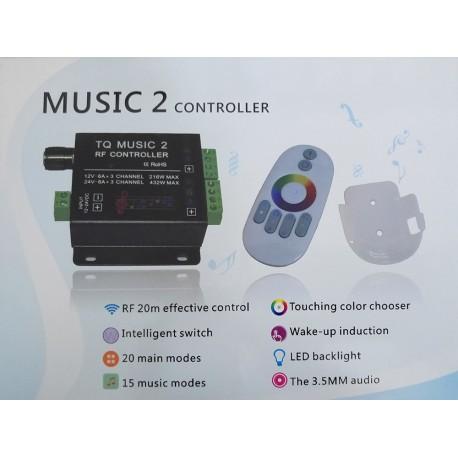 درایور نور ریموتی RF لمسی (RGB Controler S-203)
