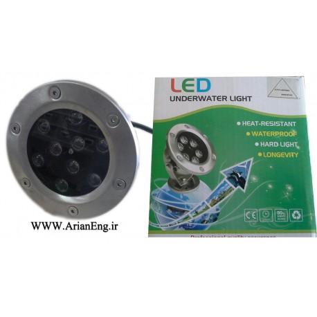 چراغ LED استیل 9 وات روکار آبنما