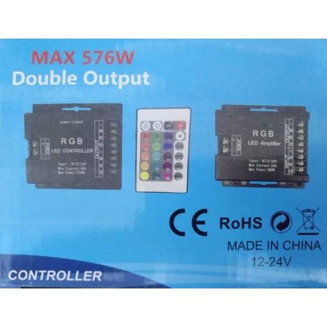 درایور نور کنترلی با 2 خروجی 12 - 24 ولت 30 آمپر