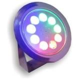 پروژکتور LED ضد آب 9 وات روکار ( IP68 ) مالتی کالر